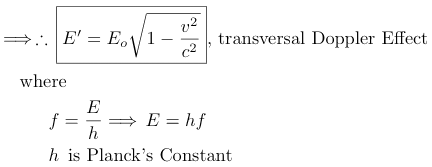 transversal doppler energy effect