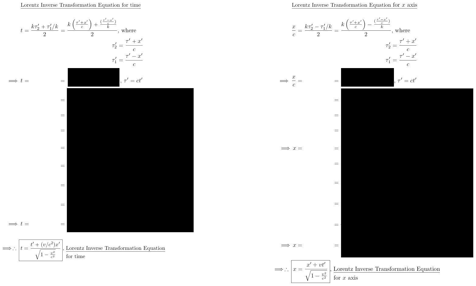Minkowski's and Bondi's derivation of the Lorentz time-distance Transformation Equations