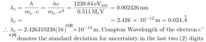 electron compton wavelength