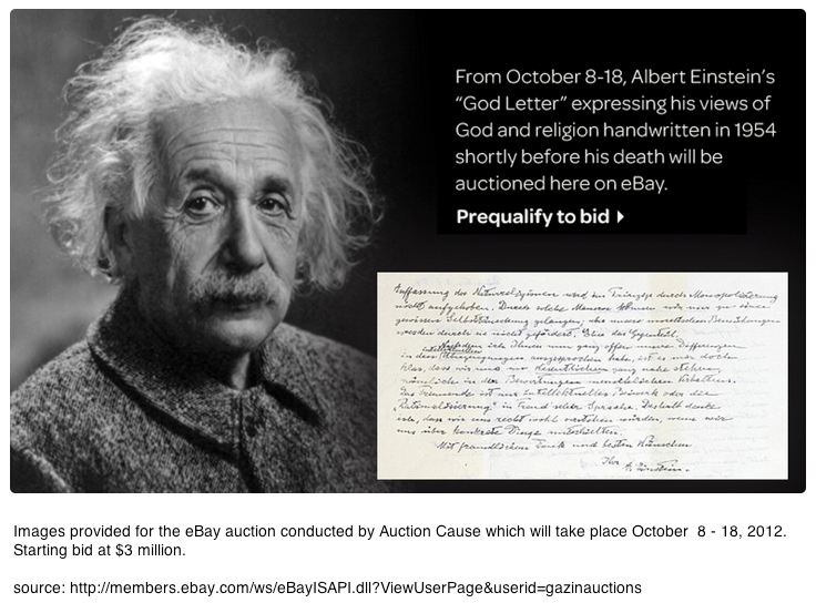 Einstein's 'God Letter'