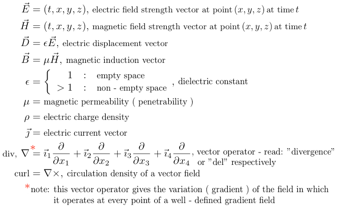 electric - magnetic definitions