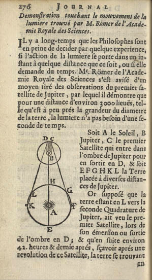 Olaf Roemer's 1677 journal