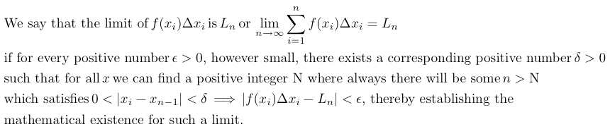 definition of the mathematical limit