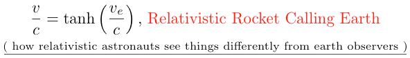 Relativity Physics And Science Calculator Relativistic Photon Rocket