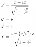 Lorentz Transformation Equations - see: Category - 'Age of Scientific Discovery'