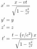 The Lorentz Transformation Equations