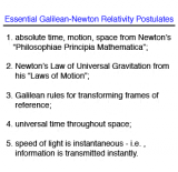 Galilean - Newton vs. Einstein Relativity