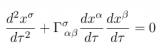 The Geodesic Spacetime Equation