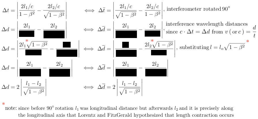 Lorentz-FitzGerald proof