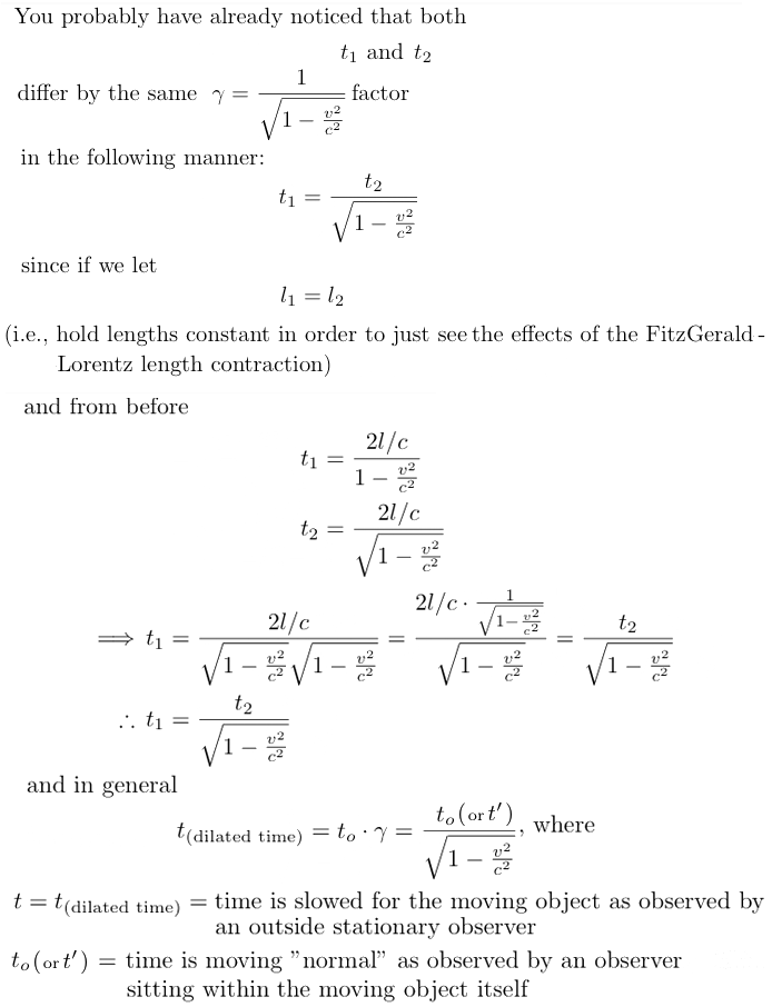 Lorentz-FitzGerald time dilation proof