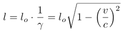 FitzGerald - Lorentz length contraction