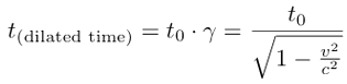 Lorentz time dilation