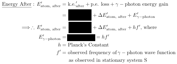 conservation relativity doppler energy after