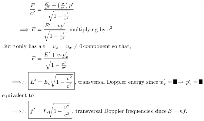 transversal doppler energy