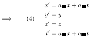 reduced transformation equations
