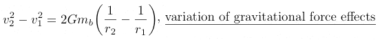 variation of gravitational force