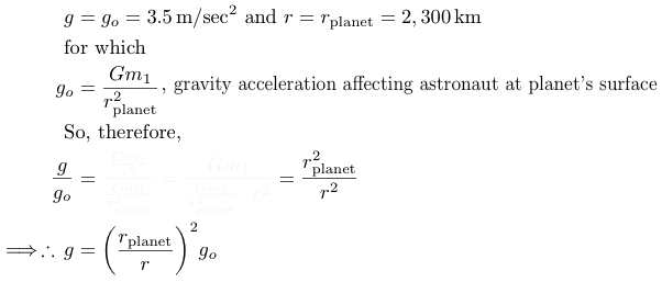 gravity acceleration