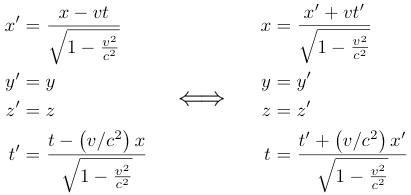 Lorentz-FitZGerald Transformation Equations