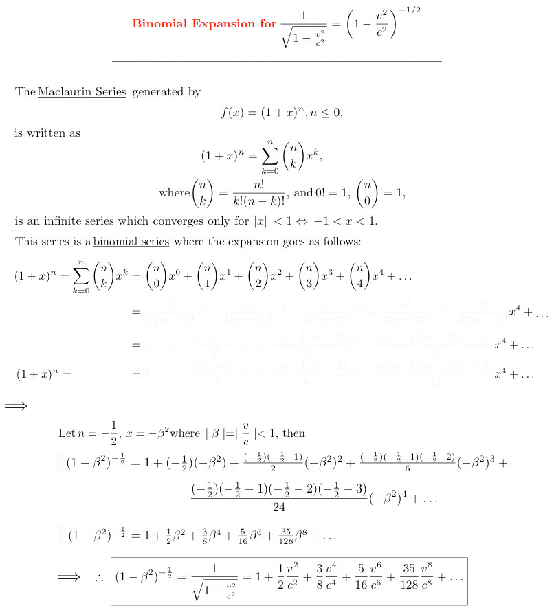 Relativity Science Calculator Mathematical References