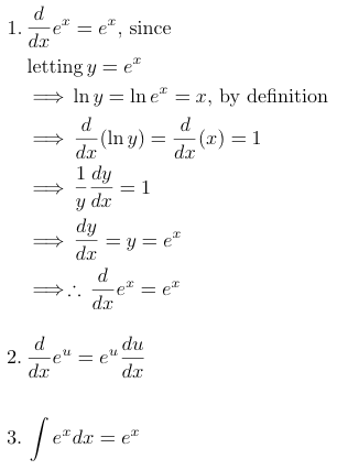 calculus differentiation natural log e