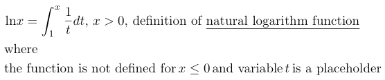 definition natural logarithm