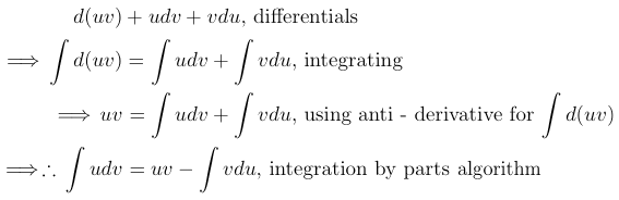 calculus integration by parts