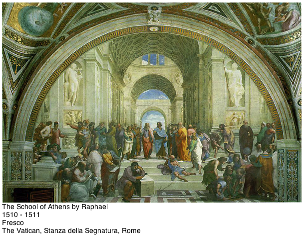 Plato and Aristotle in School of Athens by Raphael