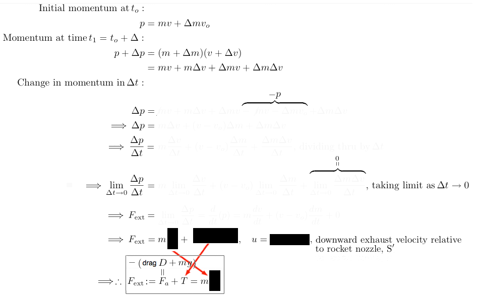 algebraic rocket derivation