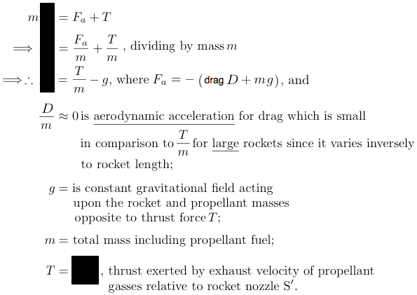 derivation rocket equation