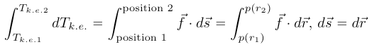 integral calculus kinetic energy
