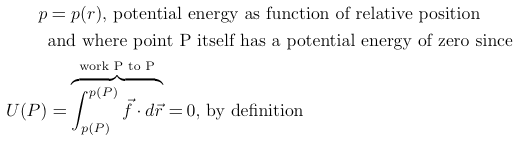 potential energy function of relative position