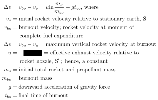 rocket equation