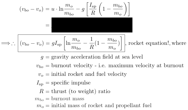 non-relativistic rocket equation