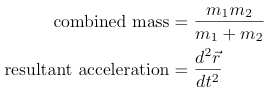 2-body combined mass system